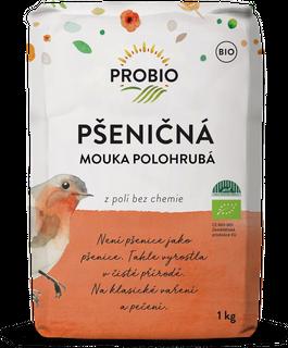 PROBIO Mouka pšeničná polohrubá 1kg Bio