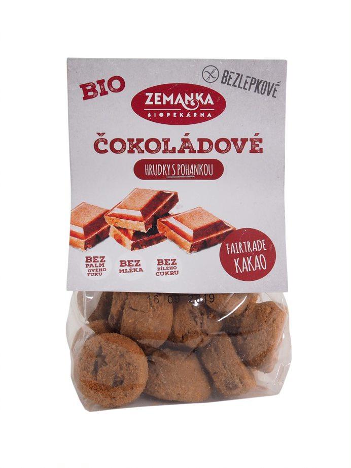 Biopekárna Zemanka bezlepkové čokoládové bio hrudky s pohankou 100 g